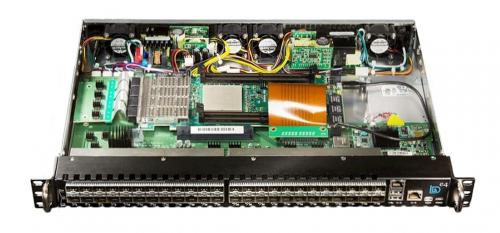Internal view of BittWare e4 Chassis supports any Xilinx UltraScale or Intel FPGA PCI boards.