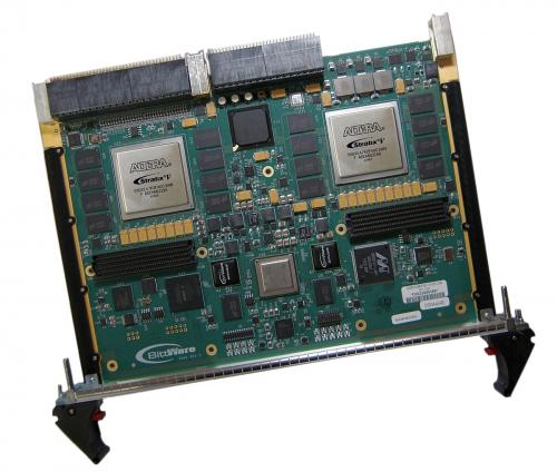 BittWare S56X is a VPX 6U single slot card with two high density Stratix V GX/GS FPGAs and 800 MHz ARM Cortex-A8 control processor.