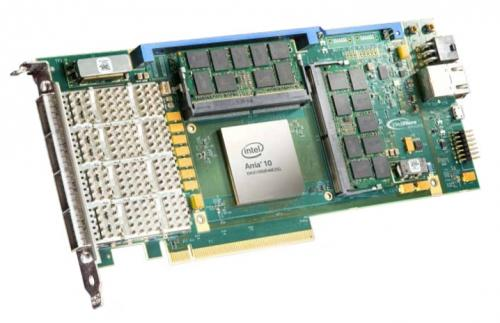 BittWare A10P3S is a 3/4-length PCIe x8 card with Intel Arria 10 GX/SX FPGA and SoC supports 2x-core ARM Cortex-A9 with 1.5 GHz CPU operation per core.
