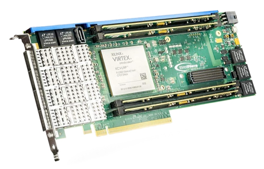 BittWare XUPP3R – Xilinx UltraScale+ VU13P FPGA with 4x QSFP